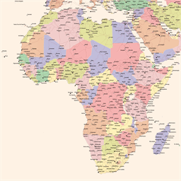 Vector map of Mali