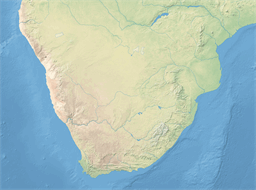 Vector map of Southern Africa