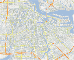 Vector map of Amsterdam (center), Netherlands