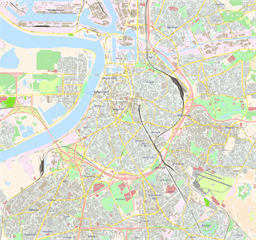 Vector map of Antwerp, Belgium