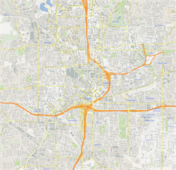Vector map of Atlanta, USA