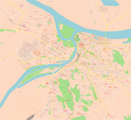 Vector map of Belgrade, Serbia