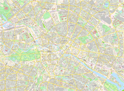 Vector map of Berlin (center), Germany