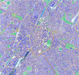 Vector map of Brussels, Belgium