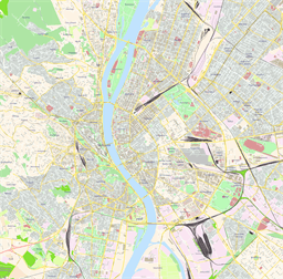 Vector map of Budapest, Hungary