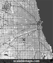 ScalableMaps Vector Maps Of Chicago For Illustrator