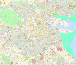 Vector map of Dublin (center), Ireland
