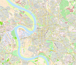 Vector map of Düsseldorf (center), Germany