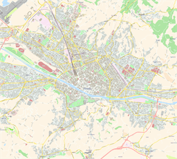 Vector map of Florence (center), Italy