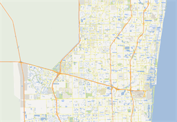 Vector map of Fort Lauderdale, USA