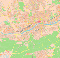 Vector map of Frankfurt (center), Germany