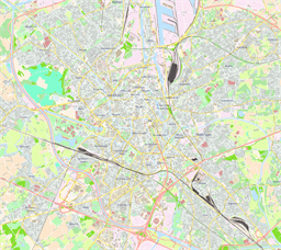 Vector map of Ghent, Belgium