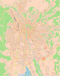 Vector map of Graz, Austria
