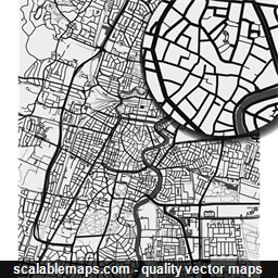 ScalableMaps: Vector maps of Haarlem for Illustrator