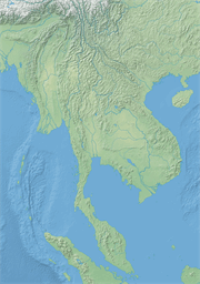 Vector map of Laos