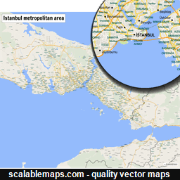 Vector map of Istanbul, Turkey