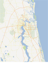 Vector map of Jacksonville, USA
