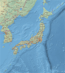 Vector map of Japan