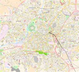 Vector map of Lille, France