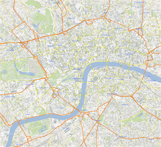 London Center Map.Vector Map Of London Center Gmap Theme In Ai And Pdf Formats