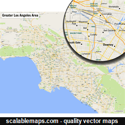 ScalableMaps Vector maps of Los Angeles for Illustrator