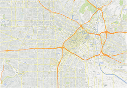 Vector map of Los Angeles, USA