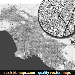 Los Angeles Map Png.Scalablemaps Vector Maps Of Los Angeles For Illustrator