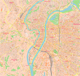 Vector map of Lyon, France
