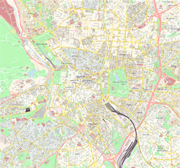 Vector map of Madrid, Spain