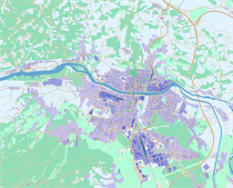 Vector map of Maribor, Slovenia