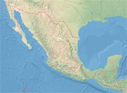 Vector map of Mexico