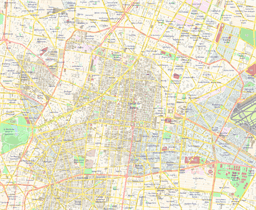 Vector map of Mexico City, Mexico