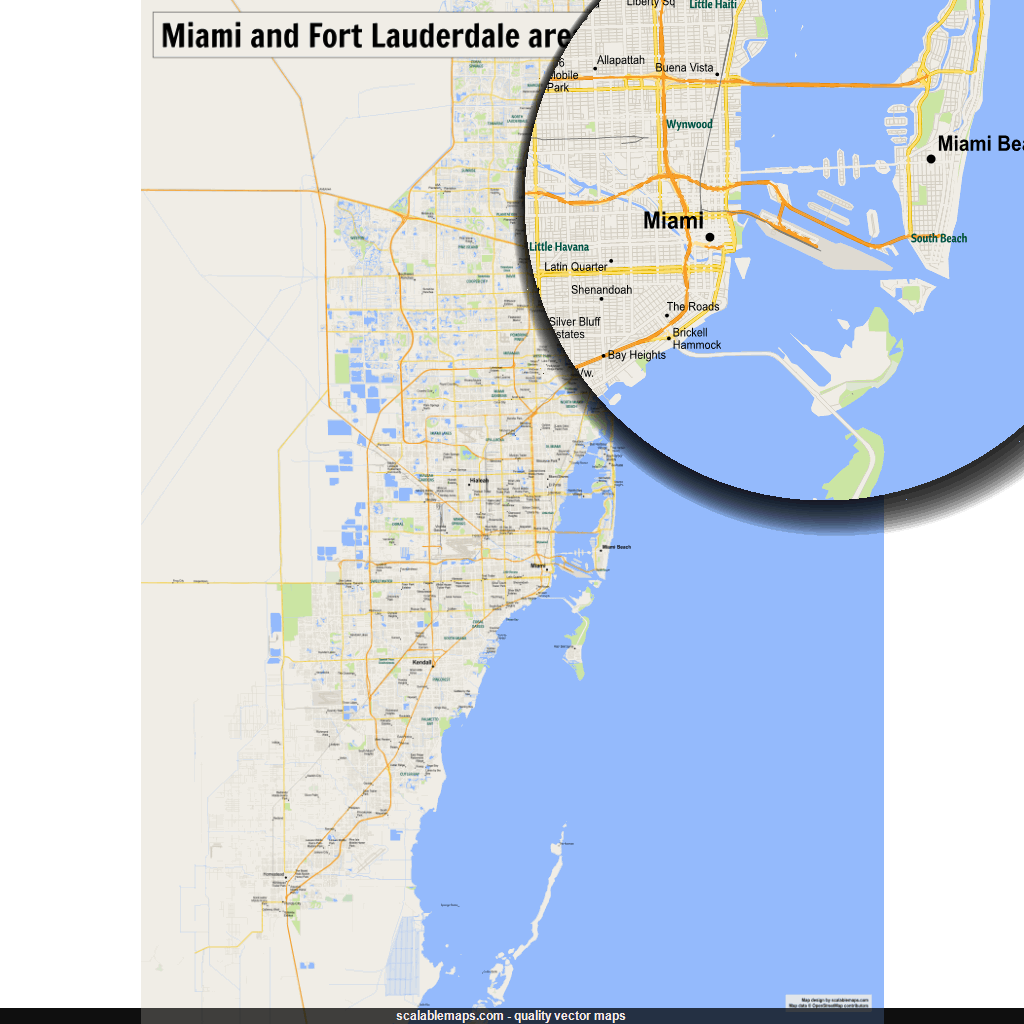 ScalableMaps: vector maps of Miami