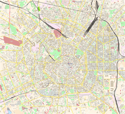 Vector map of Milano, Italy