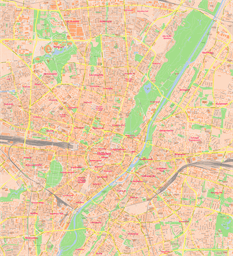 Vector map of Munich, Germany