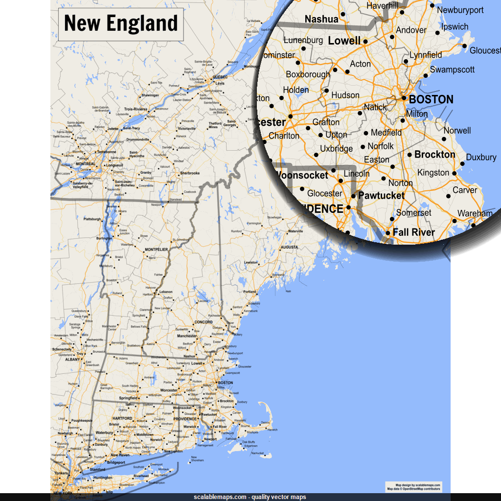Vector map of Connecticut (gmap-reg1m theme) in AI and SVG formats on