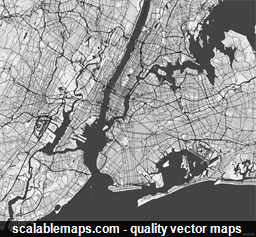 Vector map of New York, USA