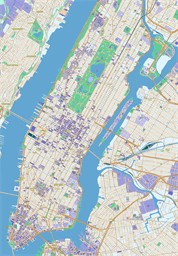 Vector map of New York (Manhattan), USA