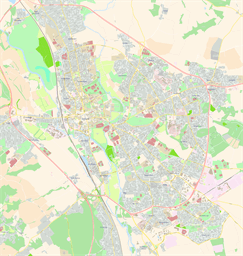Vector map of Oxford, UK