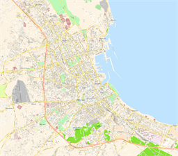 Vector map of Palermo, Italy