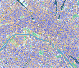Vector map of Paris (center), France