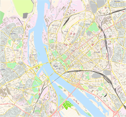 Vector map of Riga, Latvia
