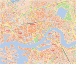 Vector map of Rotterdam, Netherlands