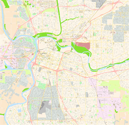 Vector map of Sacramento, USA