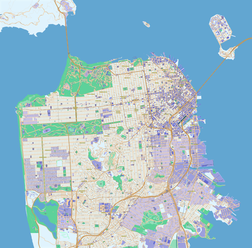Scalablemaps Vector Maps Of San Francisco Pdf Ai
