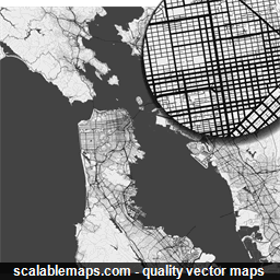 Vector map of San Francisco, USA