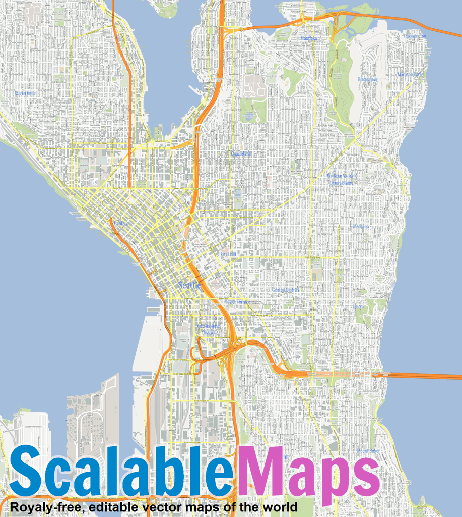 Vector map of Seattle (gmap theme) in AI and PDF formats on puget sound regional council map, washington map, seattle visitors map, seattle city light map, time in seattle map, seattle city parks map, capital city map, seattle city limits map, visit seattle map, city md map, northshore school district map, seattle center map, seattle street map, downtown seattle walking map, los angeles seattle map, seattle pier map, seattle weather map, seattle tourist map, city road map seattle wa, king county map,