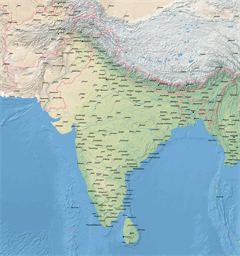 Vector map of India
