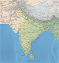 Vector map of South Asia