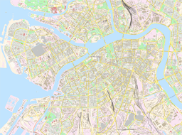Vector map of Saint Petersburg, Russia